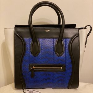 Celine Mini Luggage Python handbag